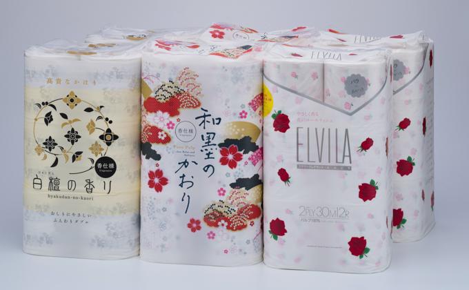 四国特紙 トイレットペーパー詰め合わせ6パックセット(計72ロール)