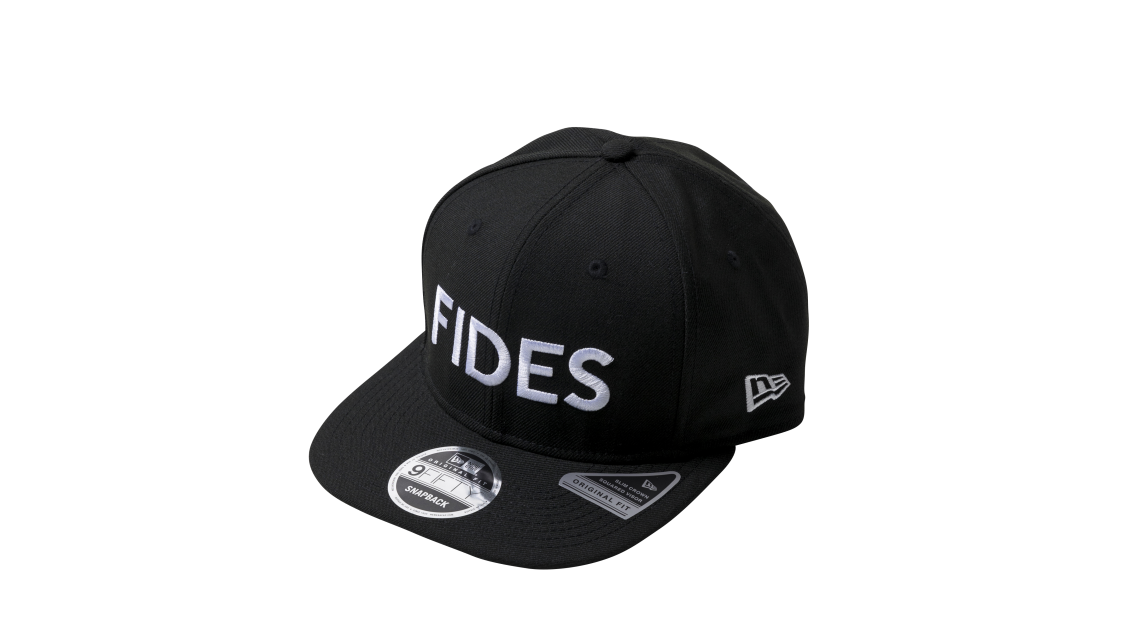 DM021_FIDES×NEW ERA CAP 9FIFTY ORIGINAL FIT FRONT LOGO(BLK)