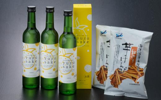 NM016O1土佐鶴yuze sake12本・芋けんぴセット