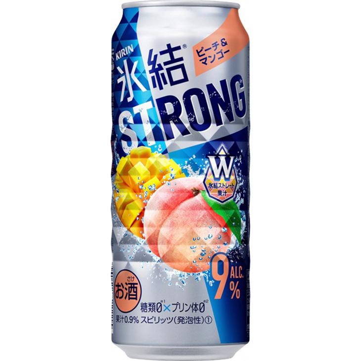 キリン 氷結ストロング ピーチ&マンゴー 500ml 1ケース(24本)