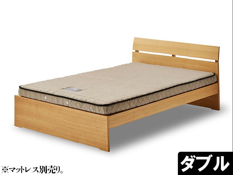 EO428_【開梱設置 完成品】デフィ ダブル ベッド ウッドスプリング ナチュラル ベッドフレーム シンプル モダン 家具
