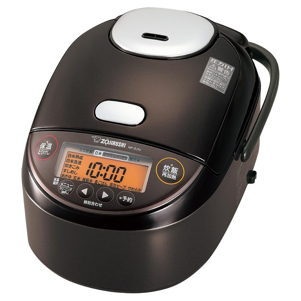 象印圧力IH炊飯ジャー(炊飯器) 「極め炊き」NPZU10-TD 5.5合炊き ダークブラウン