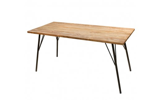 318-02 gleam 古民家の古材ダイニングテーブル150(ホワイトウォッシュ)
