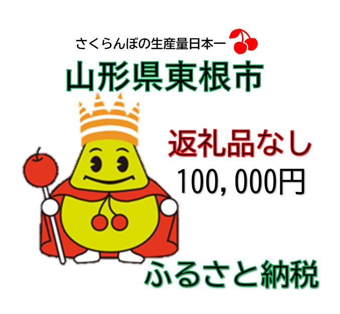 返礼品なしの寄附(1口100,000円)