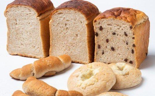 [1214]とかち有機JAS認定「焙煎ふすま」を使った山食パン