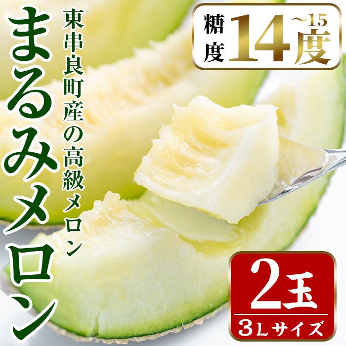 【20870】鹿児島県東串良町産の高級アールスメロン(3L×2玉)【まる美園芸組合】