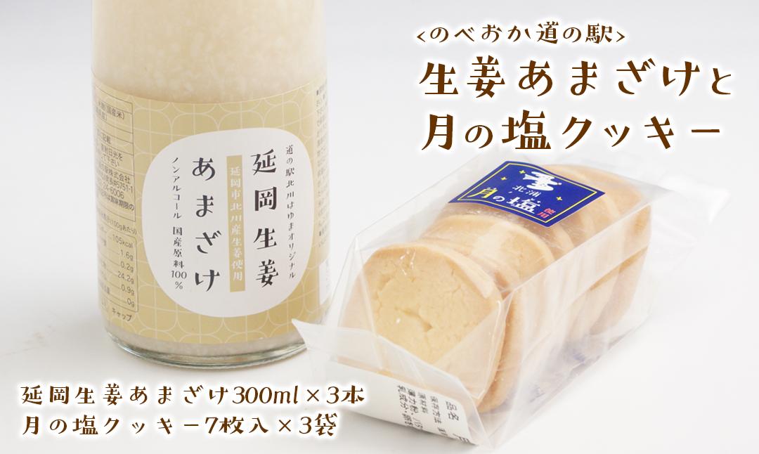 【のべおか道の駅】延岡生姜あまざけと月の塩クッキーのセット(A035)