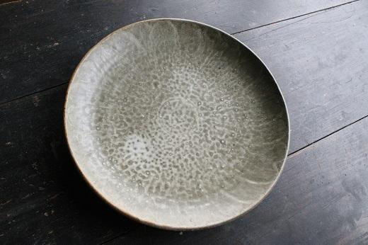 <C25-3 若杉窯大皿 直径35.5×高さ5㎝>