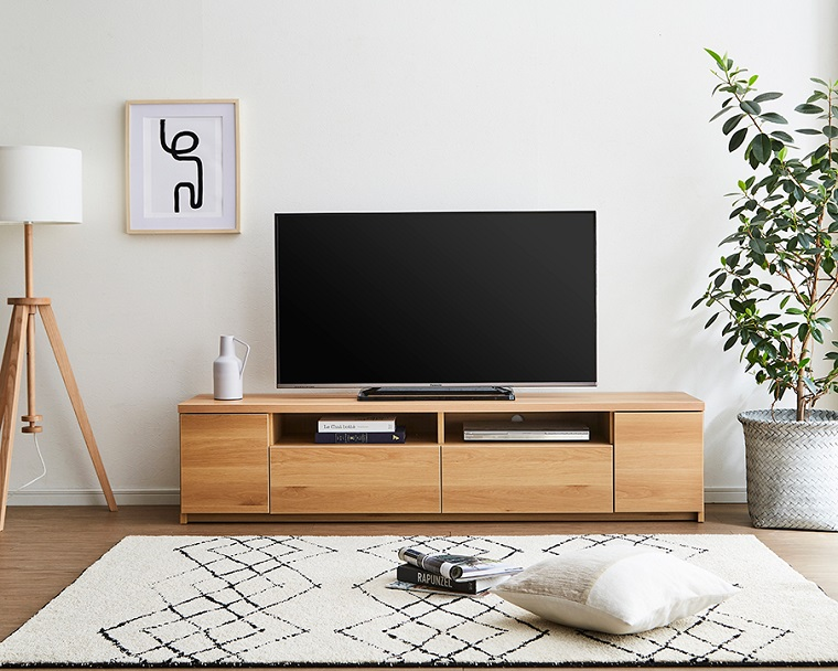 EL251_シンプルなデザイン 幅180 テレビボード【設置/組立て付き】ナチュラル[di03068-01]