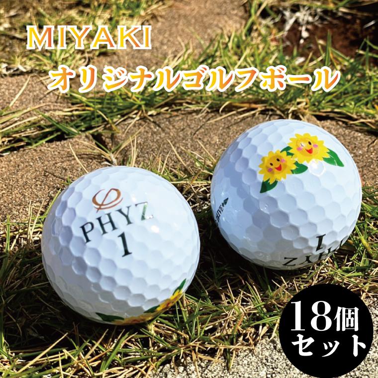 BG113_みやき町オリジナルゴルフボール 18個