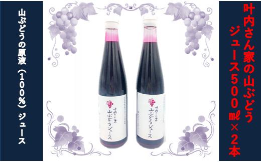 叶内さん家の山ぶどうジュース(100%原液)500ml×2本