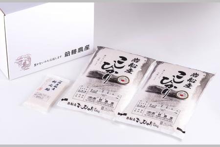 B4028 【令和3年産米】米ソムリエ板垣謹製 岩船産コシヒカリ10㎏&新之助300g