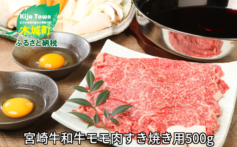 K01_0010 <宮崎牛和牛モモ肉すき焼き用500g>
