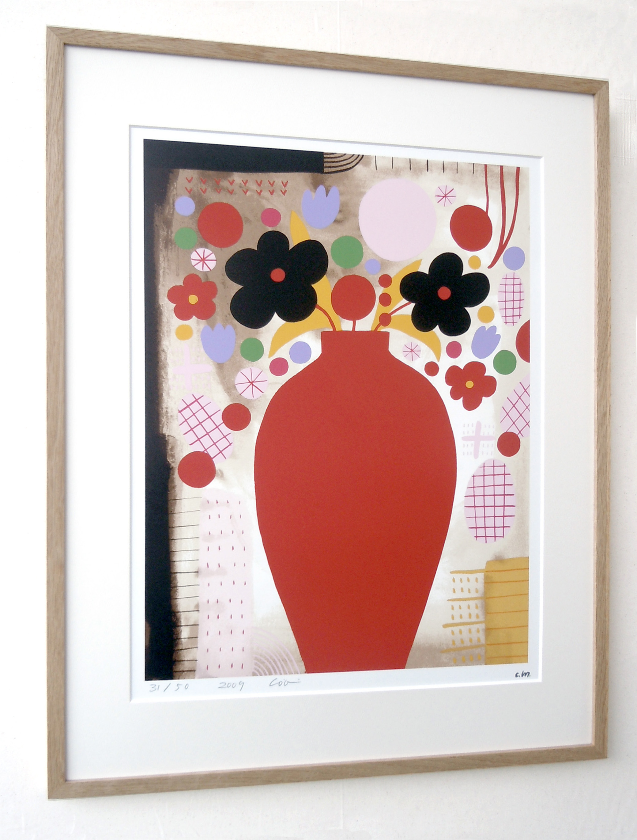 【著名アーティストシルクスクリーン版画作品】宮迫千鶴「七月のピアノ」
