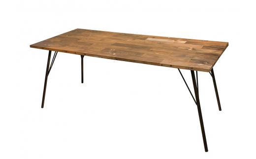 430-01 gleam カヌーの古材ダイニングテーブル180(kanoナチュラル)