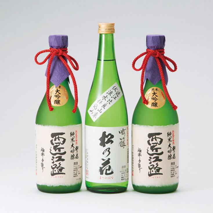 【I-926】川島酒造 松の花ふるさとほのぼの地酒セットB [高島屋選定品]