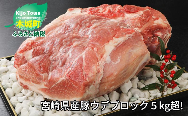 K16_0014_1 <宮崎県産豚ウデブロック5kg超!>