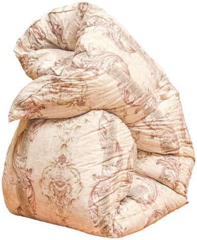 寒冷地仕様の御殿場スペシャル羽毛布団「ゴールド」シングルサイズ150cm×210cm イングランドダック93% 1.5kg 柄:ヘリオス【ピンク】